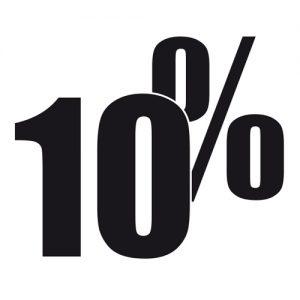 Adesivo Saldi 10%