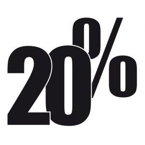 Adesivo Saldi 20%