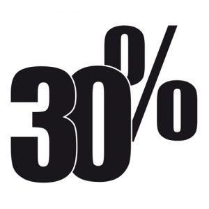 Adesivo Saldi 30%