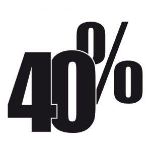 Adesivo Saldi 40%