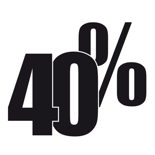 40% SALDI!