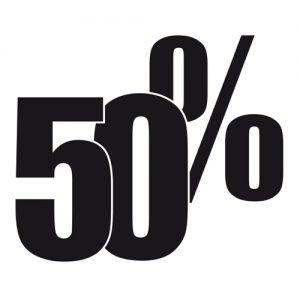 Adesivo Saldi 50%