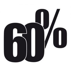 Adesivo Saldi 60%