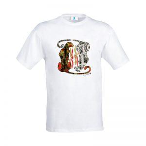 "T-shirt Mandala ""Ghepardi"""