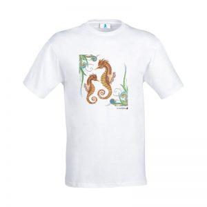 "T-shirt Mandala ""Cavallucci Marini"""