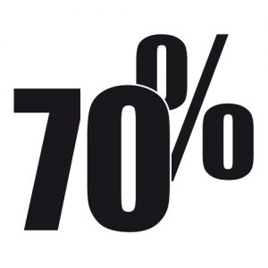 Adesivo Saldi 70%