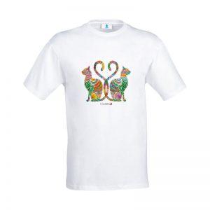 "T-shirt Mandala ""Gatti Egiziani"""