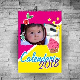 Calendario 2018 da muro a 12 pagine
