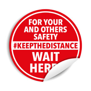 "Adesivi calpestabili ""#KEEP THE DISTANCE"""