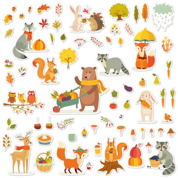 adesivi per bambini autunno