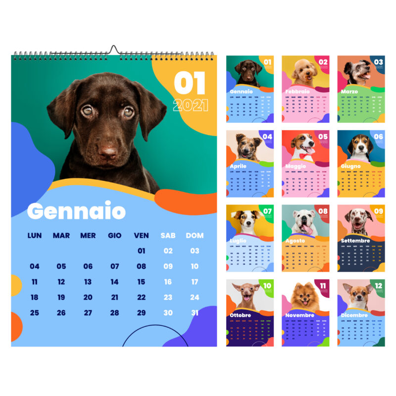 Calendario dei cani 2021 | Grafica, Stampa e Web | Feltyde