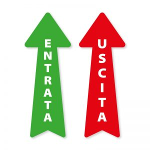 """Kit di 2 frecce segnaletiche """"ENTRATA/USCITA"""""""