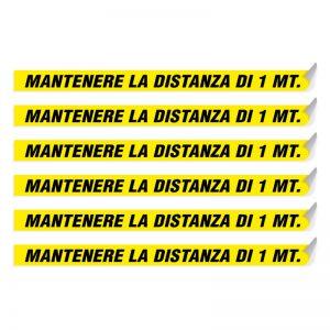 """Segnaletica per pavimento """"MANTENERE LA DISTANZA DI 1 MT"""""""