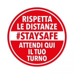 "Adesivi calpestabili ""STAY SAFE"""