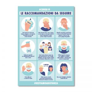 Cartello di Avviso Coronavirus