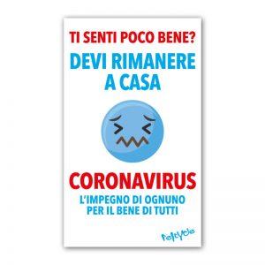 Cartello informativo Coronavirus