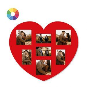 Cornice per foto a forma di cuore