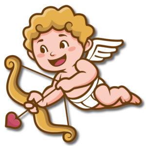 "Vetrofania ""Cupido"""