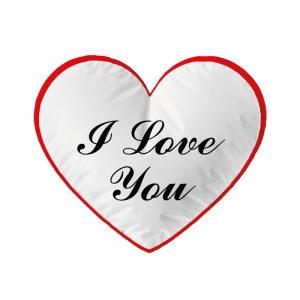 """Cuscino """"I Love You"""""""