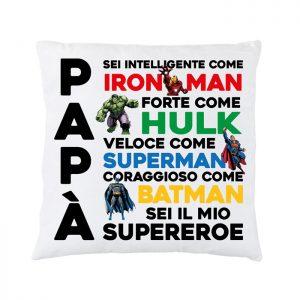 """Cuscino """"Papà sei il mio supereroe"""""""