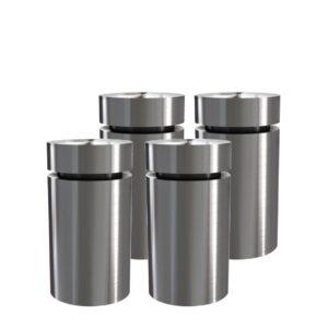 Distanziali a vite in alluminio misura media