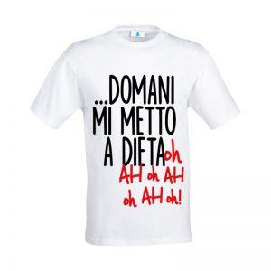 """T-shirt """"Domani mi metto a dieta"""""""