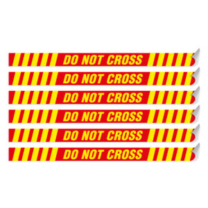 "Segnaletica per pavimento ""DO NOT CROSS"""