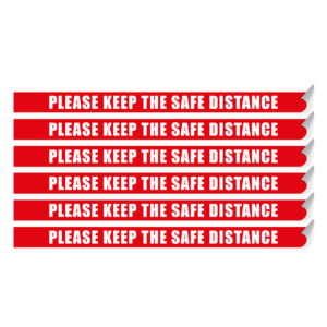 "Segnaletica per pavimento ""PLEASE KEEP THE SAFE DISTANCE"""