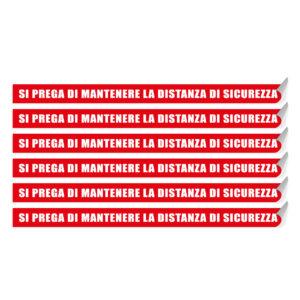 """Segnaletica per pavimento """"SI PREGA DI MANTENERE LA DISTANZA"""""""