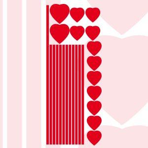Kit Adesivi per vetrina San Valentino