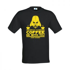 "T-shirt ""May the coffee be with you"""