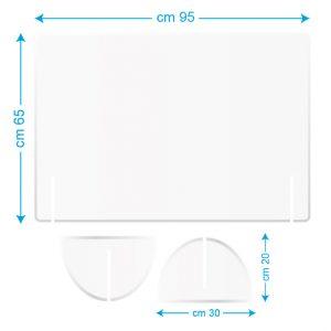 Pannello da scrivania 95x65cm bianco/stampato