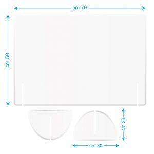 Pannello da scrivania 70x50cm bianco/stampato