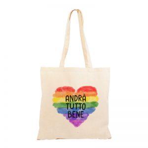 """Shopper """"#andràtuttobene"""" su cuore di arcobaleno"""