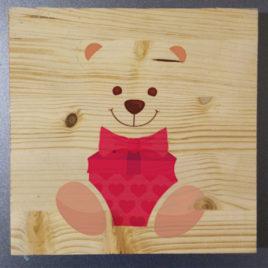 Stampa su legno – Sweet Bear