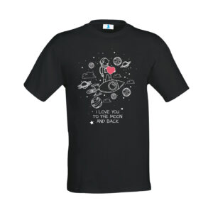 "T-shirt ""I Love You to the moon and back"""