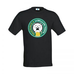 """T-shirt """"La Biella che piaceva"""" Bolle di Malto Edition Black"""