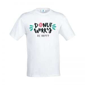 "T-shirt ""Donut worry be happy"""