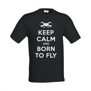 """T-shirt """"Keep calm and born to fly"""""""