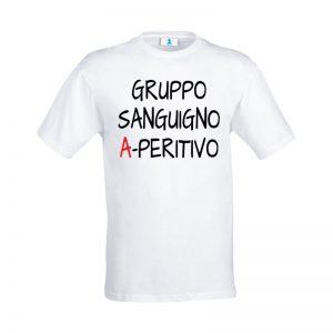 "T-shirt ""Gruppo sanguigno A-peritivo!"""
