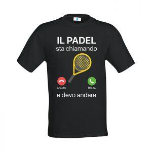 """T-shirt """"Il Padel sta chiamando… e devo andare"""""""