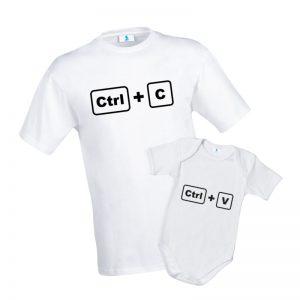 "T-shirt ""Ctrl+C"" e Baby Body ""Ctrl+V"""