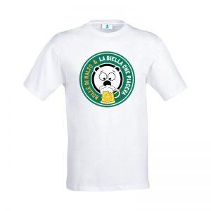 """T-shirt """"La Biella che piaceva"""" Bolle di Malto Edition White"""