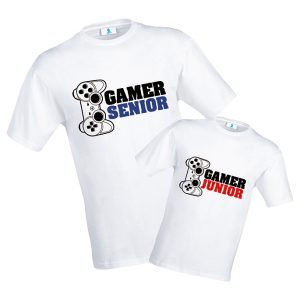 "T-shirt ""Gamer Senior"" e ""Gamer Junior"""