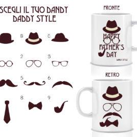 Happy father's day – dandy style – Tazza regalo – Festa del papà