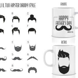 Happy father's day – hipster style – Tazza regalo – Festa del papà