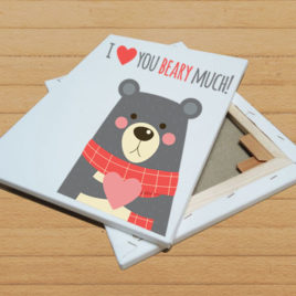 Stampa su tela – I love you beary much