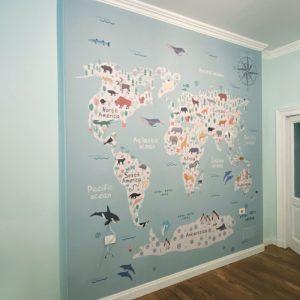 """Wallsticker """"World map"""""""
