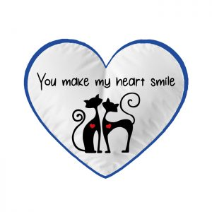 "Cuscino ""You make my heart smile"""